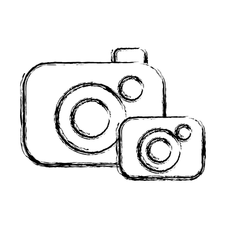figure digital cameras technology object to photograph Illustration