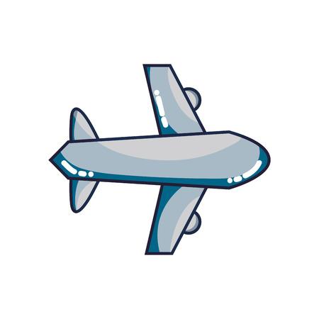 airplane flight transportation style to travel Illustration