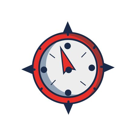 compass object to travel in map direction Illustration