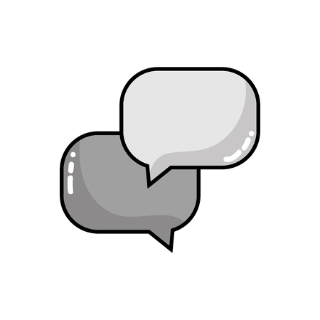 thought balloon: grayscale chat bubbles message text notes