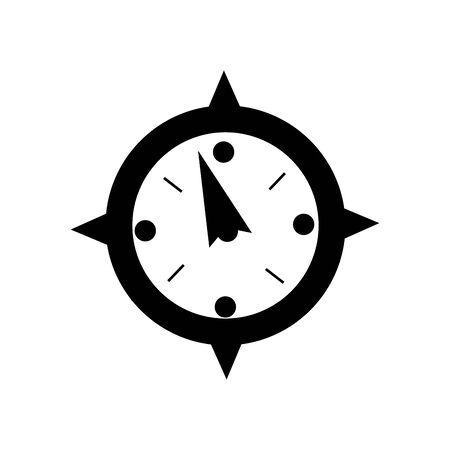 contour compass object to travel in map direction vector illustration