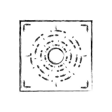 Figure gun sight circle with shooting focus vector illustration Illustration