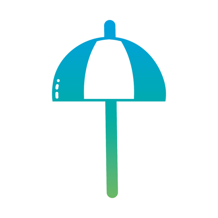 raining: Silhouette umbrella open style to weather protection
