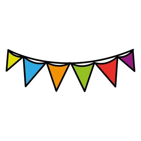 flag party celebration decoration design vector illustration
