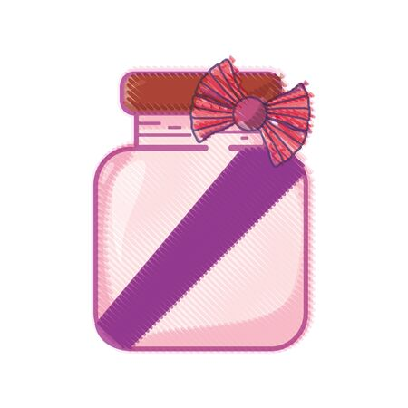 Crystal jar with ribbon bow decoration design