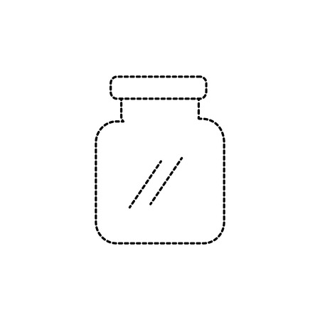 Dotted shape glass and crystal jar object to save Illustration