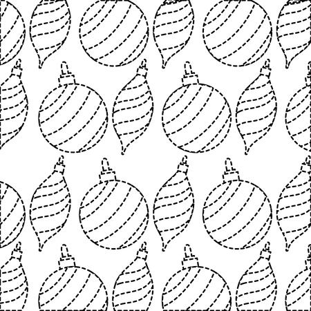 Forme en pointillé joyeux Noël boule décoration fond conception illustration de vetor
