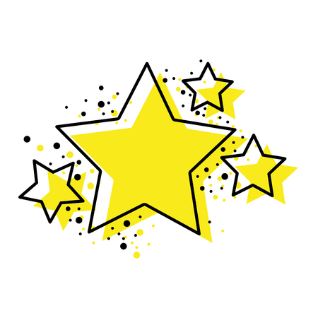 Shiny stars space glitter design, vector illustration.