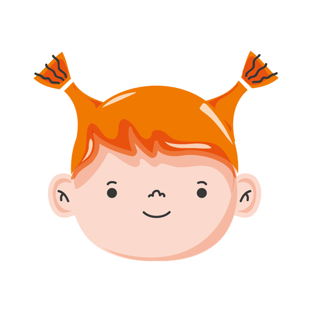 cute: avatar girl head with hairstyle design