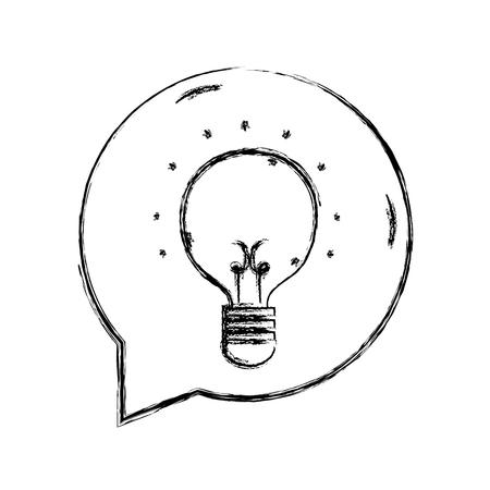 figure bulb idea inside chat bubble message