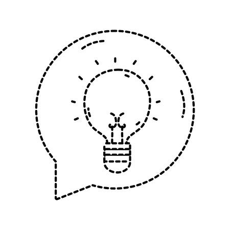 Bulb idea icon. Illustration