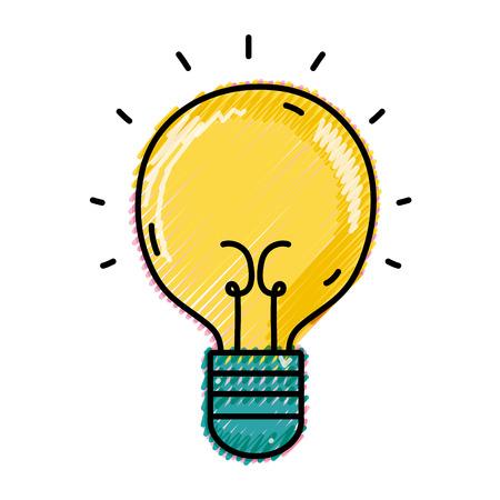 Grated light bulb idea icon. Иллюстрация