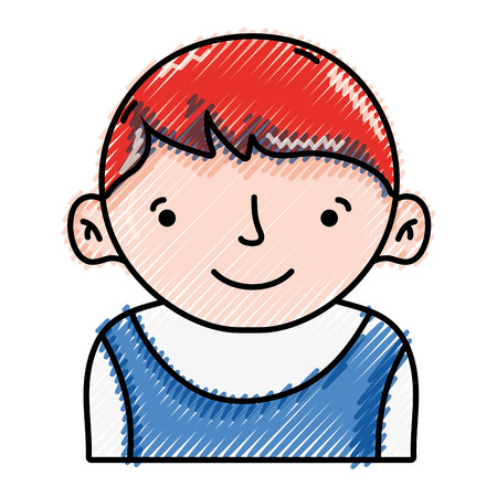 Grated avatar boy with t-shirt and hairstyle design vector illustration Illustration