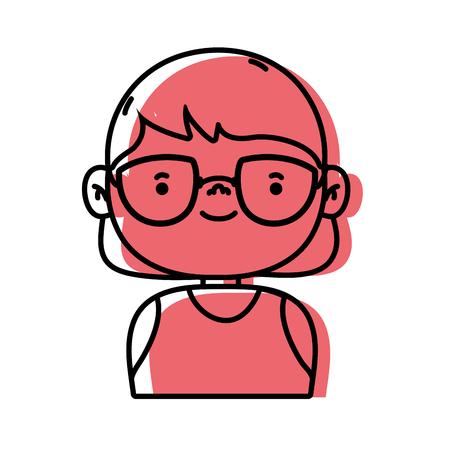 Avatar of a girl wearing an undershirt vector illustration