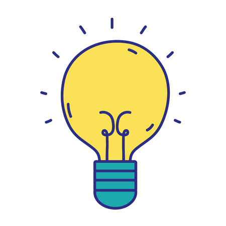 light bulb idea to creative invention vector illustration