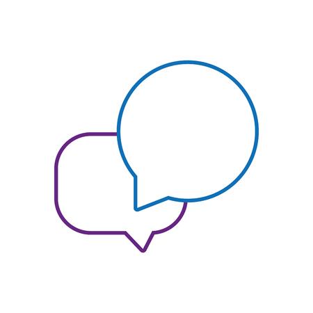 Line chat bubbles text notes message vector illustration