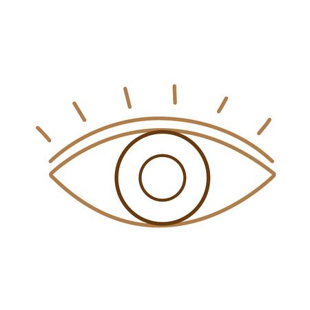 Line human eye vision with eyelashes design vector illustration Illustration
