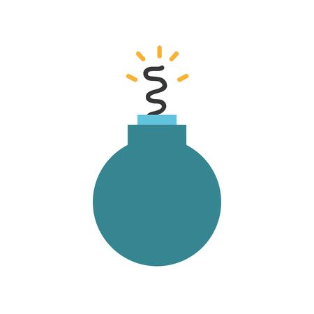 nuclear bomb: Danger bomb weapon to explode destruction vector illustration Illustration