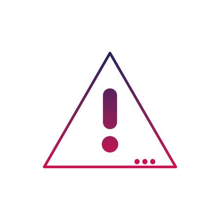 Caution emblem to danger alert.