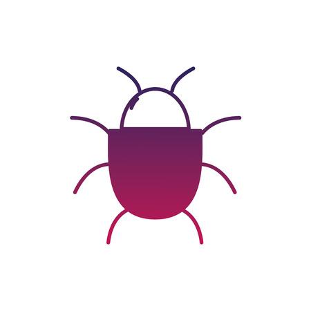 Spin insect aan web gevaar symbool.