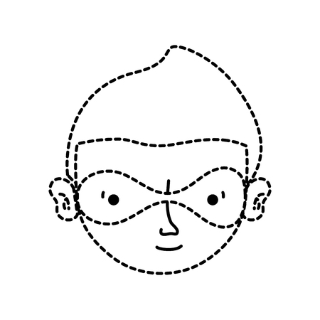dotted shape thief crimical head with mask design Illustration