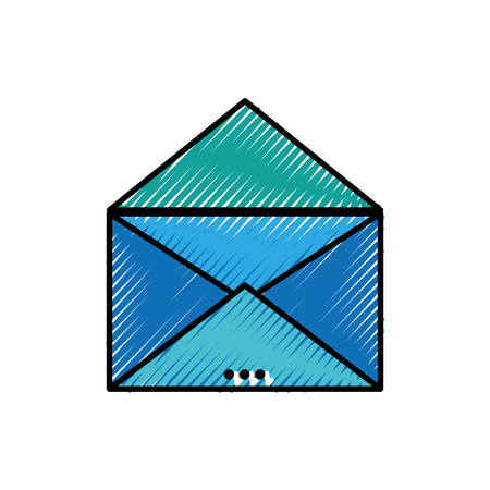 grated e-mail card with text information message Ilustrace