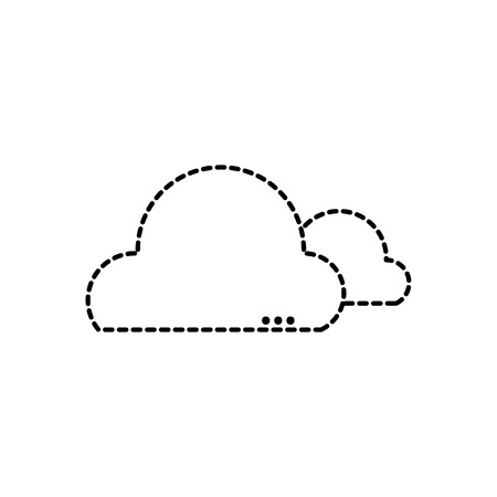 Dotted shape natural clouds in the sky and nice weather design Illustration