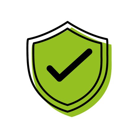 Shield security protection web symbol vector illustration