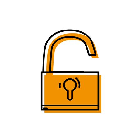 padlock object symbol to security protection Illustration