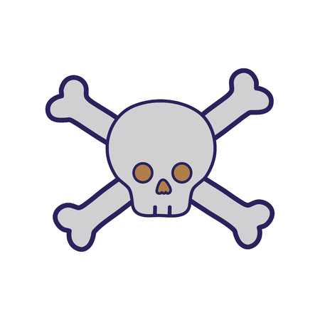 Dancer skull caution alert message Illustration