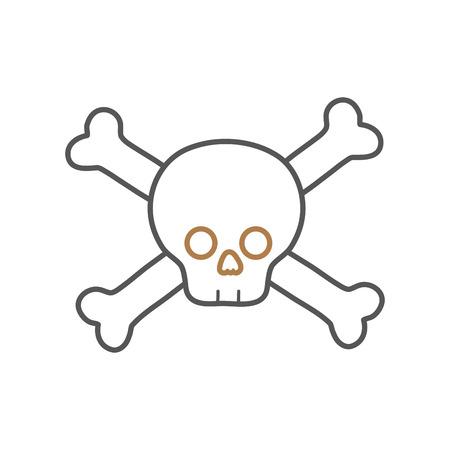 riesgo quimico: line dancer skull caution alert message
