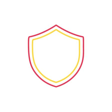Line shield security protection web symbol