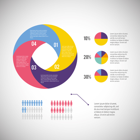 infographic business diagram with information strategy vector illustration