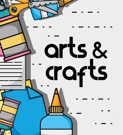 art and craft creative object design vector illustration Vettoriali