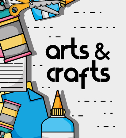 art and craft creative object design vector illustration Vectores