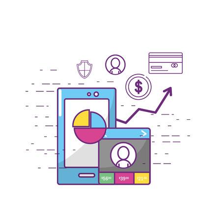 Fintech industry design Illustration