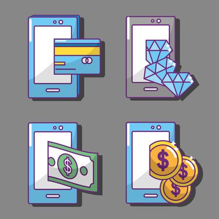 Conception de l'industrie Fintech Vecteurs