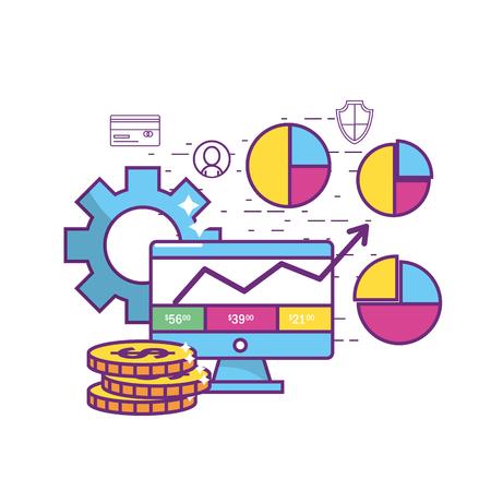 Conception de l'industrie Fintech Banque d'images - 90150960