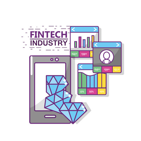 Conception de l'industrie Fintech Banque d'images - 90150006