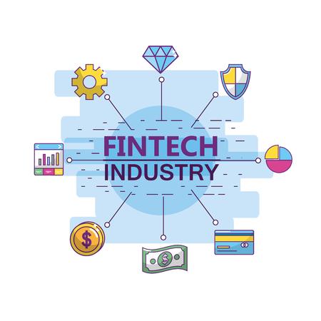 Fintech industry design Ilustração