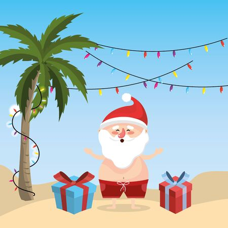 summer holiday vacation with santa claus