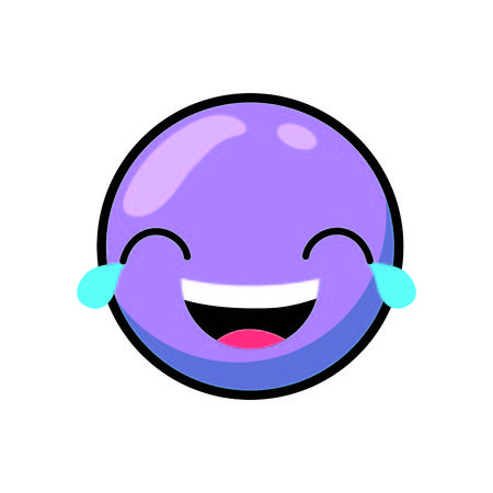 Cartoon face emoticon caricature and character theme Isolated design Vector illustration Illustration