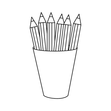 Pencils of tool write and office theme Isolated design Vector illustration