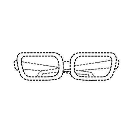 Glasses of fashion style and accessory theme Isolated design Vector illustration