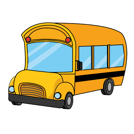 School bus of education learning and transportation theme Isolated design Vector illustration