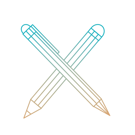 Pen and pencil of tool write and office theme Isolated design Vector illustration