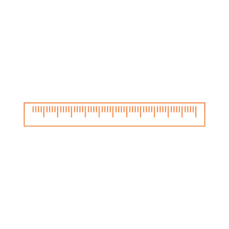 Ruler of instrument tool and work theme Isolated design Vector illustration