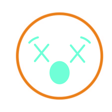 Isolated emoticon design