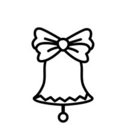 Isolated bell design Illustration