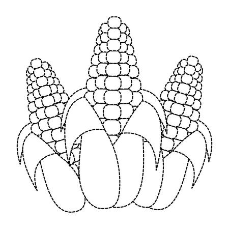 Isolated corn design Illustration